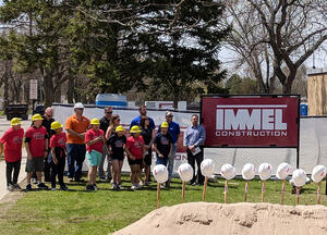 Construction company at groundbreaking event